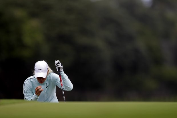 Suzann Pettersen of Norway competes in the final round of the HSBC LPGA Brazil Cup in Rio de Janeiro, Brazil, Sunday May 29, 2011.
