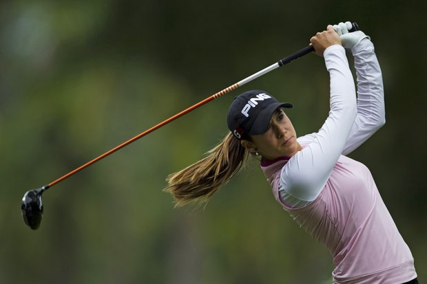 Azahara Munoz of Spain competes in the final round of the HSBC LPGA Brazil Cup in Rio de Janeiro, Brazil, Sunday May 29, 2011.