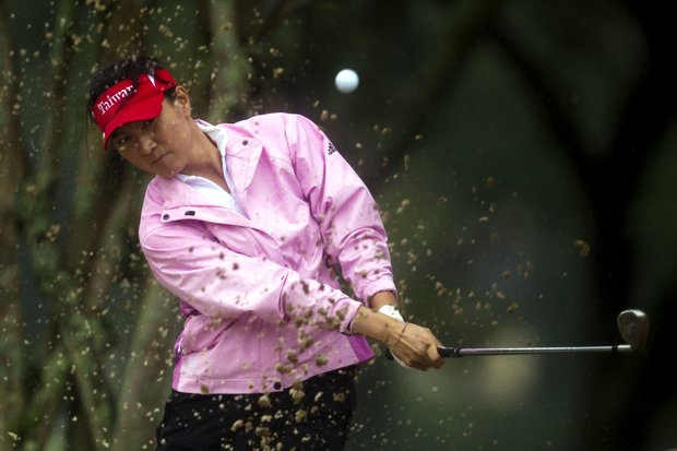 Amy Hung of South Korea competes during the first round of the HSBC LPGA Brazil Cup in Rio de Janeiro, Brazil, Saturday May 28, 2011.