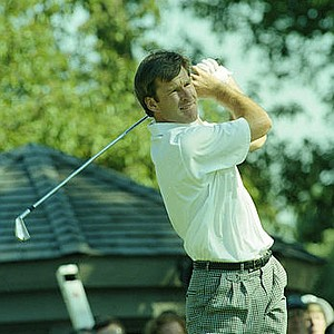 Sept. 2, 1990 - Nick Faldo teeing off at the U.S. Open in Medinah Country Club in Medinah, Illinois on June 15, 1990.