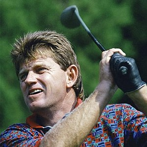 Aug. 14, 1994 - South African Nick Price tees off during a practice round for Friday's Presidents Cup, at the Robert Trent Jose Golf Club in Gainesville, VA., on Wednesday, Sept. 14, 1994. Price will lead an international team against a U.S. Team in the match play tournament.