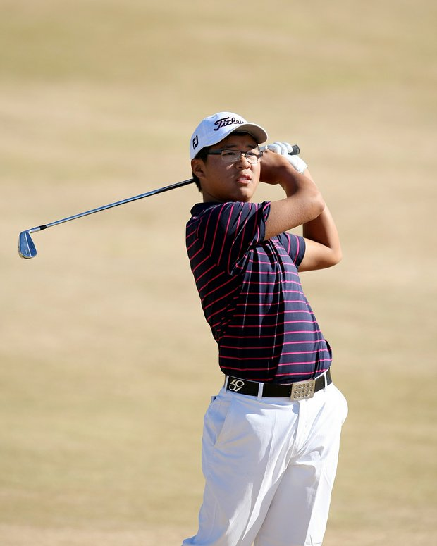 Jim Liu during the 110th U.S. Amateur Championship at Chambers Bay in University Place, WA.