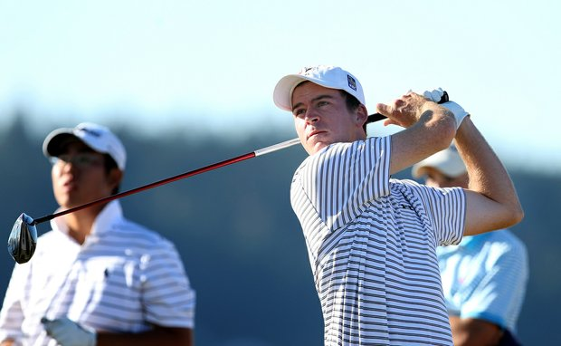 Nick Taylor during the 110th U.S. Amateur Championship at Chambers Bay in University Place, WA.