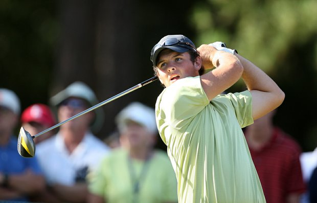 Patrick Reed during Saturday's semifinal match play at the 2008 U. S. Amateur.