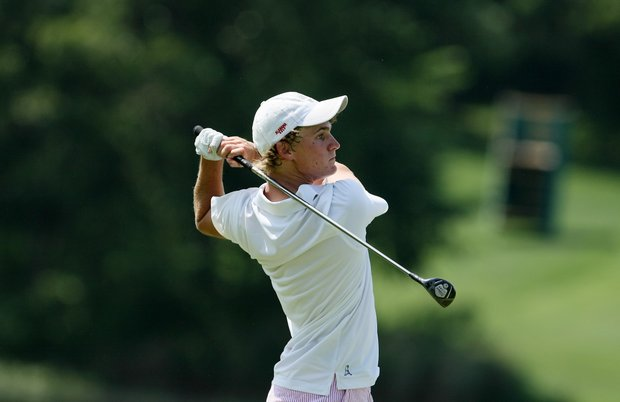 Alabama's Bud Cauley during Tuesday stroke play at the 2011 NCAA Division I Men's Golf Championship.