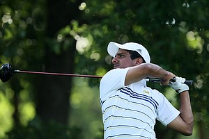 Michigan's Rahul Bakshi during Tuesday stroke play at the 2011 NCAA Division I Men's Golf Championship at Karsten Creek in Stillwater, Oklahoma.