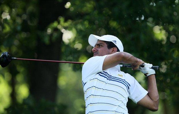 Michigan's Rahul Bakshi during Tuesday stroke play at the 2011 NCAA Division I Men's Golf Championship at Karsten Creek in Stillwater, Oklahoma.