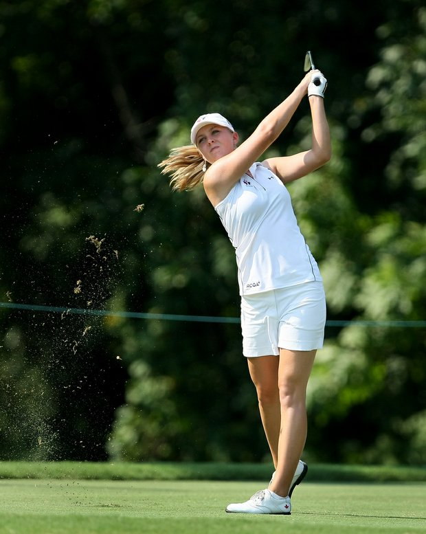 Jennifer Kirby at No. 3 during Friday's quarterfinals of the 2010 Women's Amateur at Charlotte Country Club, August 13, 2010.
