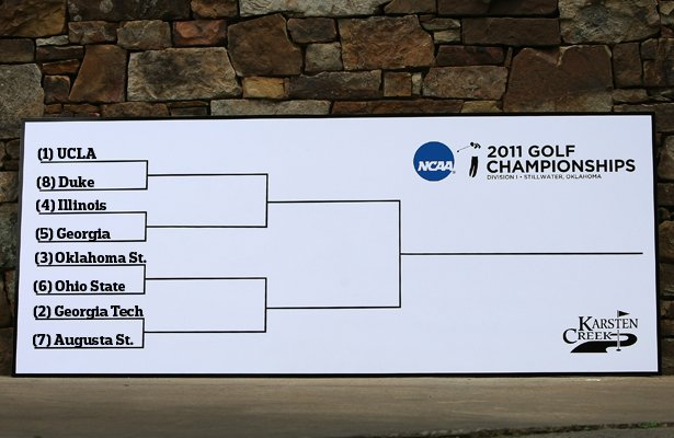 View of how the first-round matches stack up at the 2011 NCAA Championship.
