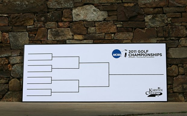 An empty match play bracket awaited the completion of stroke play on Thursday afternoon.