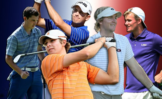 From left: Patrick Cantlay, Scott Langley, Peter Uihlein, Russell Henley, John Peterson