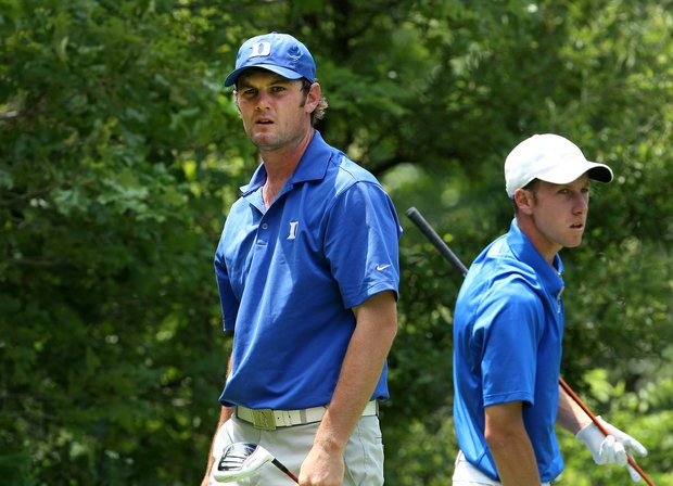 UCLA's Gregor Main defeated Duke's Wes Roach during match-play quarterfinals at the NCAA Championship.