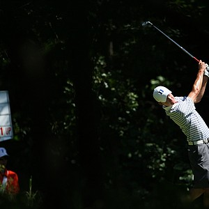 Duke's Tim Gornik hits his tee shot at No. 3 during Semifinals of Saturday's Match Play at the 2011 NCAA Division I Men's Golf Championship at Karsten Creek in Stillwater, Oklahoma.
