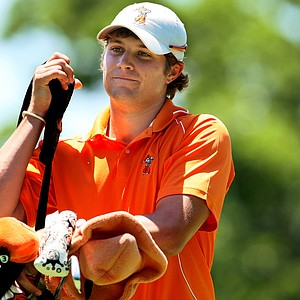 Oklahoma State's Peter Uihlein during Semifinals of Saturday's Match Play at the 2011 NCAA Division I Men's Golf Championship at Karsten Creek in Stillwater, Oklahoma.
