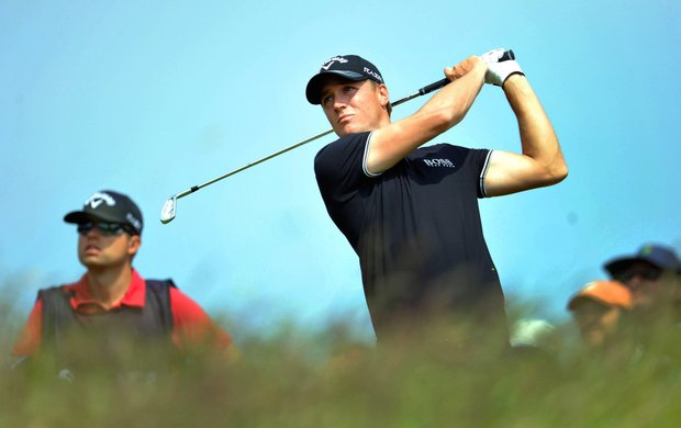Sweden's Alexander Noren plays off the 7th tee during day three of the Wales Open 2011 at the Celtic Manor Resort, Newport Wales Saturday June 4, 2011. Noren shot a 4-under 67 in windy conditions Friday to take a one-stroke lead over defending champion Graeme McDowell in the Wales Open.