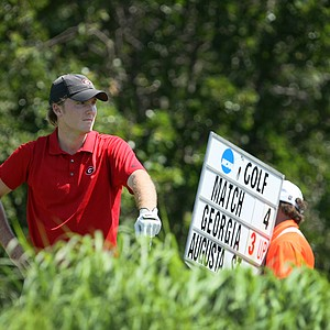 Georgia's Russell Henley during the finals of Sunday's Match Play at the 2011 NCAA Division I Men's Golf Championship at Karsten Creek in Stillwater, Oklahoma. Henley won his match, 3 and 2.