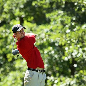 Georgia's Harris English during the finals of Sunday's Match Play at the 2011 NCAA Division I Men's Golf Championship at Karsten Creek in Stillwater, Oklahoma. English fell to Patrick Reed, 2 and 1.