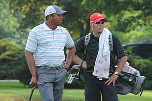 PGA Tour winner Jhonattan Vegas, left, was 3 under for the 36 holes, four shots off the chance to play in the U.S. Open.