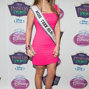 Miss Teen USA Stormi Henley arrives at the Disney Princess Royal Court Crowning Event in New York, Sunday, March 14, 2010.