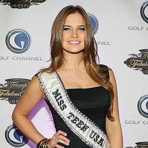 Miss Teen USA Stormi Bree Henley poses for a photo prior to a special screening of Golf Channel's new celebrity reality series, Donald J Trump's Fabulous World of Golf on March 31, 2010 at Trump Towers in New York, New York.