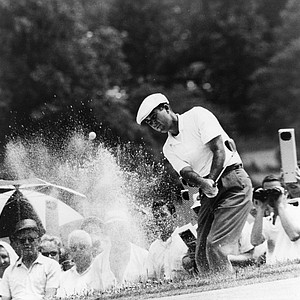 Photo shows Ken Venturi during the 1964 U.S. Open Championship which was held at Congressional Country Club, (Composite Course), Bethesda, Md.  He was the winner of the event.