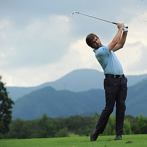 Robert Rock of England in action during the final round of BMW Italian Open at Royal Park I Roveri on June 12, 2011 in Turin, Italy.