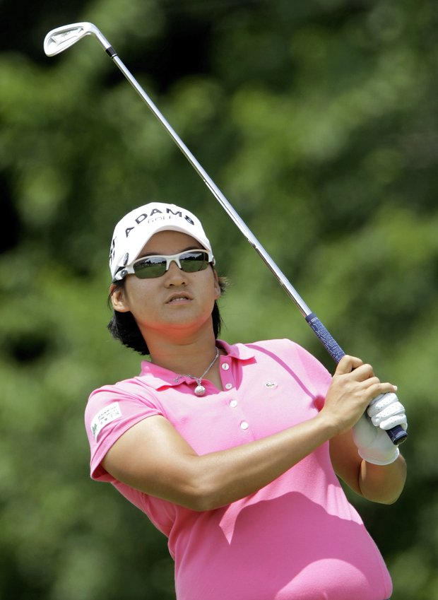 Yani Tseng of Taipei, Taiwan tees off on the second tee during the LPGA State Farm Classic golf tournament Sunday, June 12, 2011 in Springfield, Ill.