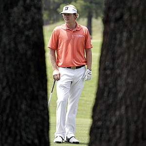Brandt Snedeker prepares to take his second shot on the seventh hole during the first round of the St. Jude Classic golf tournament on Thursday, June 9, 2011, in Memphis, Tenn.