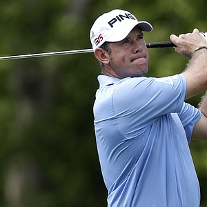 Lee Westwood, of England, tees off on the eighth hole during the first round of the St. Jude Classic golf tournament on Thursday, June 9, 2011, in Memphis, Tenn.