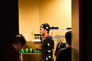 Italian golf star Edoardo Molinari gets suited up for his EA Sports motion-capture session at facilities in Orlando, Fla. on June 8, 2011. Molinari had nearly 150 swings captured during the session. The swings will be used in the EA Sports Tiger Woods PGA TOUR '13 game. It is Molinari's second year in the popular game.