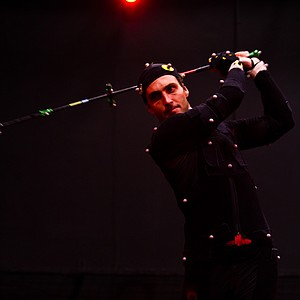 Edoardo Molinari, only days before the U.S. Open at Congressional, took nearly two hours to go through a motion-capture session for EA Sports on June 8, 2011 in Orlando, Fla. The session was in preparation for developing the EA Sports Tiger Woods PGA Tour '13.