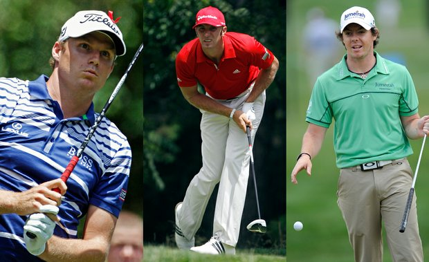 Nick Watney, Dustin Johnson and Rory McIlroy