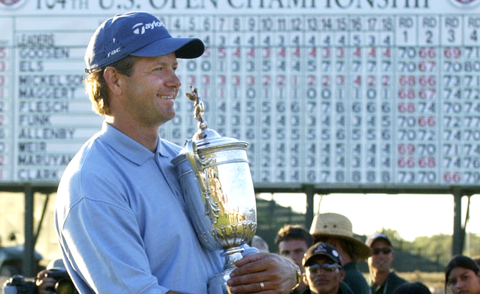 Retief Goosen after winning the 2004 U.S. Open at Shinnecock Hills