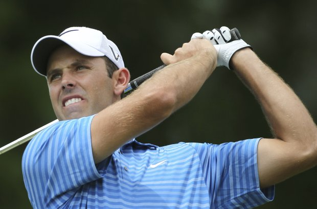 Charl Schwartzel, of South Africa, watches his drive from the 10th tee during the first round of the U.S. Open golf tournament in Bethesda, Md., Thursday, June 16, 2011.