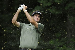 Bubba Watson watches his drive from the 13th tee during the first round of the U.S. Open Championship golf tournament in Bethesda, Md., Thursday, June 16, 2011.