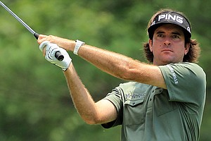 Bubba Watson hits a shot during the opening round of the U.S. Open.