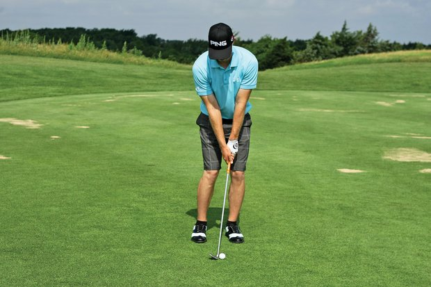 """Like his full swing, Mahan practices hitting chips with an extended pause after the completion of his backswing. This drill improves his tempo. """"He'd hold the club (in place) for 3 seconds, then make it accelerate all the way to the finish,"""" Foley said. """"After the pause, he'd have to accelerate by pulling the club through (impact), instead of pushing it through with the right hand. We'd accelerate all the way to the finish to ingrain that, even though you've made impact with the ball, you have to continue to accelerate."""" When Mahan started working with Foley, Mahan would """"take it back real quick, start down real quick and have no follow-through,"""" Foley said. """"Now, the hands create the angle (with the club), and the angle is maintained the whole time. He feels like he's doing a lot of work with the weight on his left side and with the pivot of his body, so he's taking the hands out of the shot."""""""