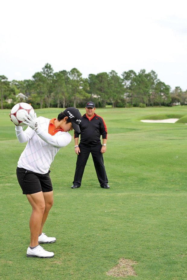 Tseng used to stand too far from the ball. She