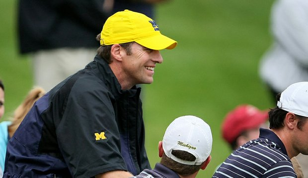 Andrew Sapp during his Michigan coaching tenure.