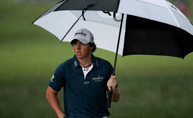 Rory McIlroy walks to the ninth green during the first round of the 111th U.S. Open at Congressional Country Club.