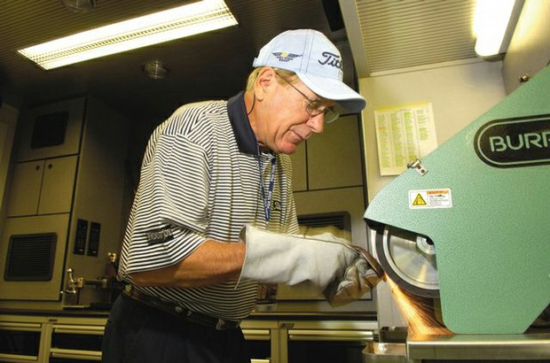 Bob Vokey splits his time these days between Titleist's California research and development facility and various professional tours around the world. And often during his travels, especially to the Far East, he's revered as a golf icon. Much like his colleague Scotty Cameron, Titleist's putter designer, Vokey draws huge crowds of ordinary golfers and golf fans seeking his wedge wisdom.