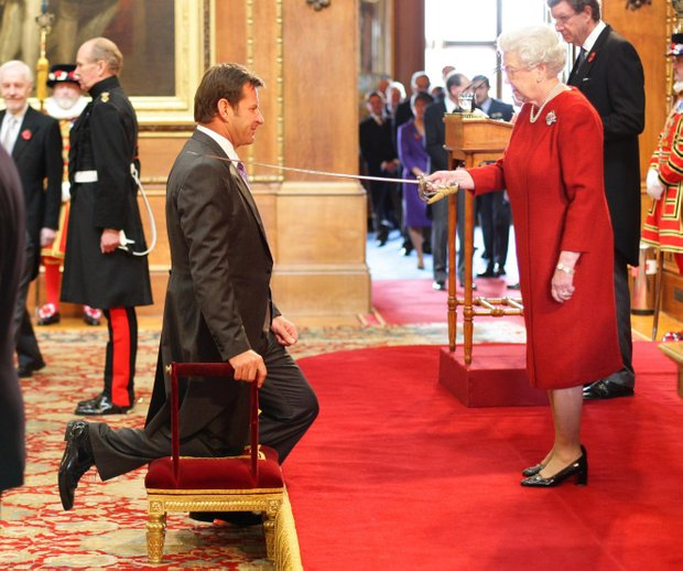 English golfer Nick Faldo is knighted by Britain's Queen Elizabeth II at Windsor Castle, England, Tuesday Nov. 10, 2009. The most successful British golfer in the modern era said he was 'humbled' but 'delighted' after learning of the accolade in the Queen's Birthday Honours List. The 52-year-old becomes a 'Sir' on the back of a career which has seen him win six majors including three British Opens.