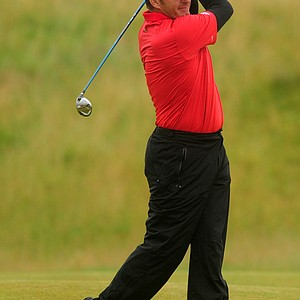 England's Sir Nick Faldo during Round One of the The Open.