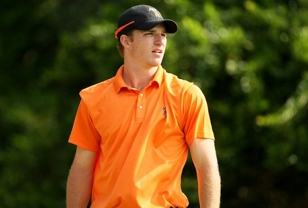 Oklahoma State University's Morgan Hoffmann on Monday during Round 2 of the Isleworth Collegiate Invitational.