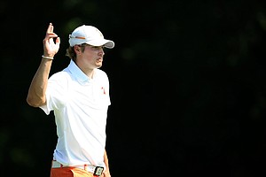 Oklahoma State's Peter Uihlein during Quarterfinals of Friday's Match Play at the 2011 NCAA Division I Men's Golf Championship at Karsten Creek in Stillwater, Oklahoma.