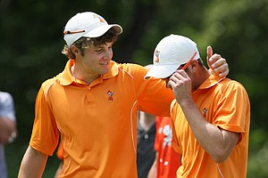 Oklahoma State's Peter Uihlein and Kevin Tway after losing to Augusta State during Semifinals of Saturday's Match Play at the 2011 NCAA Division I Men's Golf Championship at Karsten Creek in Stillwater, Oklahoma.