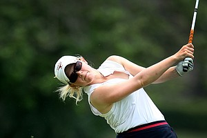 Madison Pressel, a Texas junior and the reigning Big 12 individual champion, lost to Victoria Tanco in the semifinals of the Women's Western Amateur.