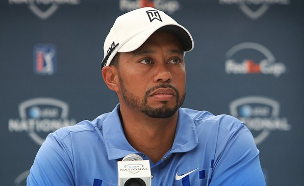 Tiger Woods during a news conference June 28 at AT&T National.