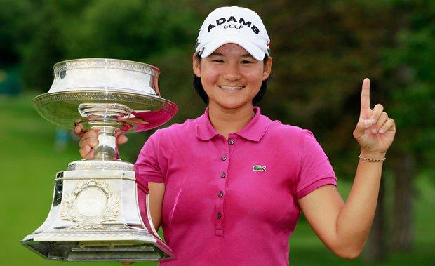 Yani Tseng after winning the 2011 Wegmans LPGA Championship