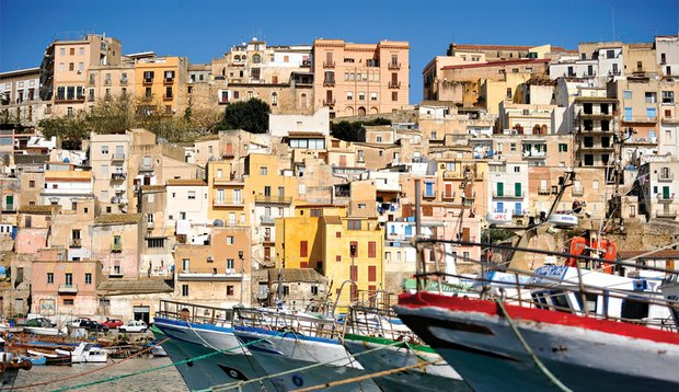 The marina and town of Sciacca.